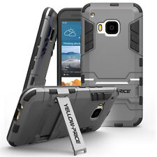 Armor Hybrid High Impact Heavy Duty Hard+Soft Case Stand Cover For HTC ONE M9