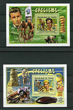 Chad Tchad 2013 MNH Cycling 2x Deluxe S/S Cyclisme Eddy Mercks Fausto Coppi