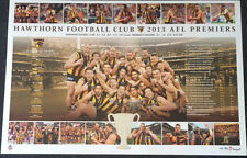 HAWTHORN 2013 PREMIERS GRAND FINAL LIMITED EDITION AFL PRINT HODGE MITCHELL