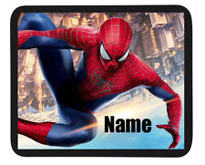 "Peronalised Kids ""Spiderman"" Mouse Mat - Add Child Name - Great Gifts"