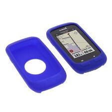 Tasche für Garmin Edge 1000 Schutz Hülle Silikon Gummi Case GPS Computer Blau