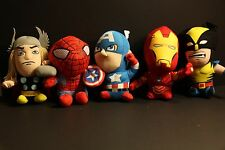 Set of 5 The Avengers Spiderman Iron Man Thor Captain America Soft Plush Doll
