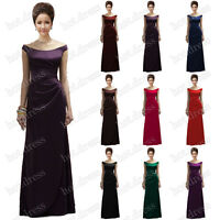 2016 New Long Satin Formal Prom Party Ball Gown Evening Bridesmaid Dresses Stock