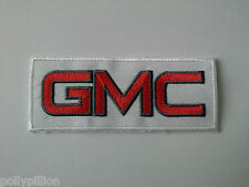MOTORSPORTS MOTOR RACING RALLY SEW ON / IRON ON PATCH:- GMC RED & WHITE STRIPE