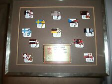 1988 WINTER OLYMPICS HOCKEY PIN SET LIMITED EDITION FRAMED