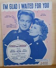 I'm Glad I Waited For You - 1946 Film Tars and Spars - movie photo cover