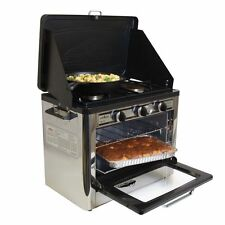 Camp Chef CAMPING OUTDOOR OVEN, 2 Burner Oven Steel CAMPING STOVE, Black Silver