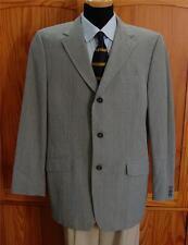 Banana Republic Sharp Lt Gray Plaid 3 Button Blazer Sport Coat Suit Jacket 44R
