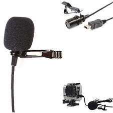 Professional Microphone External Mini USB 3.5mm Adapter Cord for GoPro Hero 3+ 4