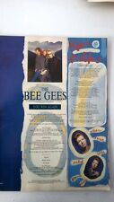 RICK ASTLEY / BEE GEES lyrics magazine PHOTO/Poster/clipping 11x8 inches