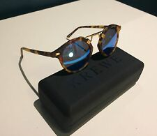 Festival Mirrored Tortoise Style Round Sunglasses Gold New Fred Segal Krewe