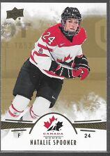 16/17 UD Team Canada Juniors Gold Natalie Spooner 11
