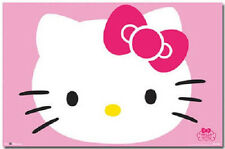HELLO KITTY  FACE PINK POSTER PRINT NEW 34x22 FREE SHIPPING