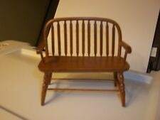 COLONIAL WINDSOR BENCH  - DOLL HOUSE MINIATURE