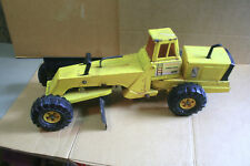 Vintage TONKA MIGHTY TURBO DIESEL Pressed Steel ROAD GRADER Double Blade