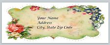 30 Personalized Return Address Labels Flowers Buy 3 get 1 free (fl1)