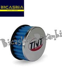 2667 - FILTRO ARIA TNT R-BOX HS DRITTO SPUGNA BLU attacco 28 / 35mm SCOOTER