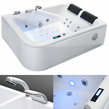 Whirlpool Badewanne Eckwanne Massage + Ozon + Touchscreen Display Chromtherapie