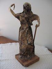 "Mexican Folk Art Paper Mache Medicine Man (?) Figurine Signed Kalani '92 12.5"""