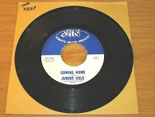 """BLUES 45 RPM - JUNIOR COLE - JIN 163 - """"COMING HOME"""" + """"I WON'T CRY"""""""