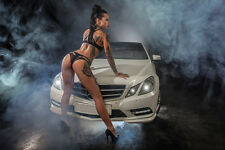 Hot Sexy Girl Tattoo Legs Booty and Cars Art Poster 30x20