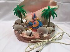 VTG 1950s Under the Sea Conch Shell Seashell Plastic Dutch Doll TV Lamp Light