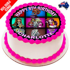 Monster High Edible Cake Image Icing Personalised Round Decoration Party Topper