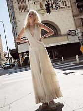 Free People White Oberoi Embellished Maxi Wedding Dress-XS-$250 MSRP