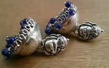GORGEOUS  SILVER PLATED JHUMKA JHUMKI FOR GOSSIP GIRLS AND WOMEN,NEW,FREE SHIP