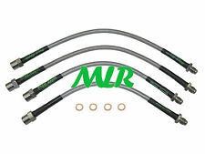 AUDI QUATTRO TURBO UR STAINLESS STEEL BRAIDED BRAKE LINES HOSES PIPES AEO