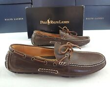 250 Men Polo Ralph Lauren Rowland Luxe Tumbled Leather Loafer Driving Shoes 10.5
