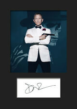 DANIEL CRAIG #1 A5 Signed Mounted Photo Print (REPRINT) - FREE DELIVERY