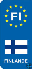 lot 2 Stickers style immatriculation (Vinyl FLAG) Europe FINLANDE