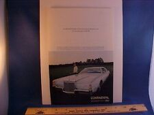 1972 Lincoln Continental Mark Mk IV full-color ad w/backer board--EZ to frame