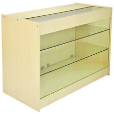 Lockable Retail Glass Shelf Cabinet / Maple Store Showcase Counter - K1200
