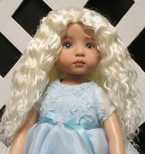 "Doll Wig, Monique Gold ""Ellowyne Rose"" Size 5/6 in White Blonde"