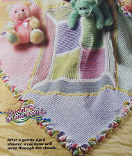 Crochet on the Double Pattern Only ~ Colors of the Rainbow Baby Afghan