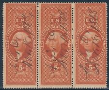 #R88c STRIP OF 3 USED $5 CHARTER PARTY BT1074
