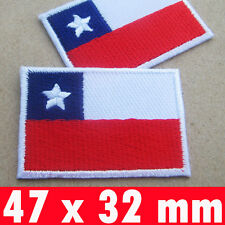 1 X Chile Flag Embroidered Chilean Iron On Patch National emblem South America