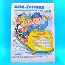 DDR ABC-Zeitung 1/1987 Zeitschrift für Junge Pioniere Oberhof Berlin