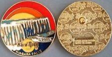 Hard Rock Cafe NIAGARA FALLS NY 1996 Round PIN w/ RAINBOW Falls Maid of the Mist