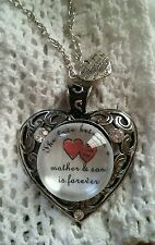 THE LOVE BETWEEN A MOTHER AND SON IS FOREVER- SNAP BUTTON ♡ NECKLACE- MY DESIGN