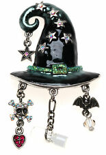 KIRKS FOLLY  STELLA MAGIC CHARM WITCH HAT PIN PENDANT ENHANCER