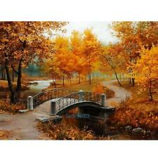 Autumn Scenery 40*30cm DIY Paint By Number Kit On Canvas Oil Painting Wall Decor