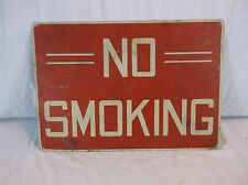 Vintage NO SMOKING Safety Sign Industrial Warehouse Factory