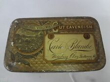 VINTAGE CARTE BLANCHE TIN ADVERTISING COLLECTIBLE GRAPHICS 525
