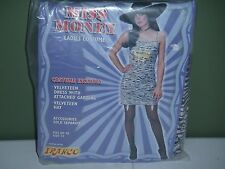 Sexy Womens Pimp Costume $$ Ladies Costume Garters Hat Dress Velveteen Size 12