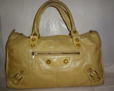 Balenciaga Paris Beige/Tan Lamb Leather Giant Work Bag or Weekender