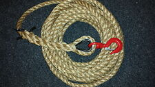 Gin Wheel Rope - 20 Metres Manilla Rope with a 1 Ton Swivel Hook for Gin wheels