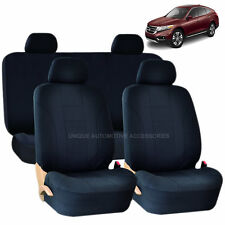 SOLID BLACK DOUBLE STITCH SEAT COVERS 8PC SET for HONDA PILOT